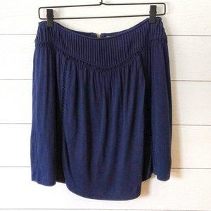 Anthropologie TULLE Navy Blue Knit Jersey Skirt XS